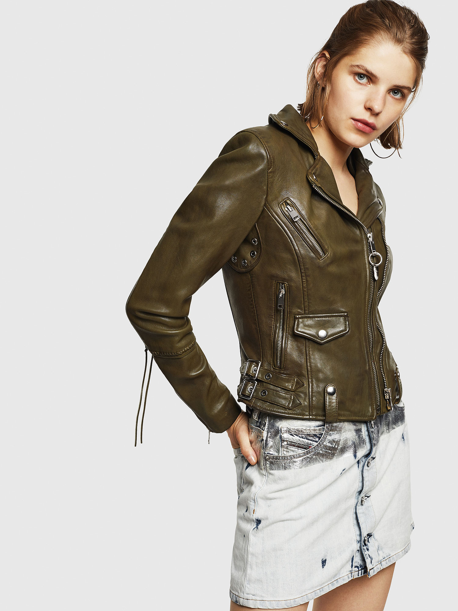 Diesel - L-SINYA-A,  - Leather jackets - Image 4