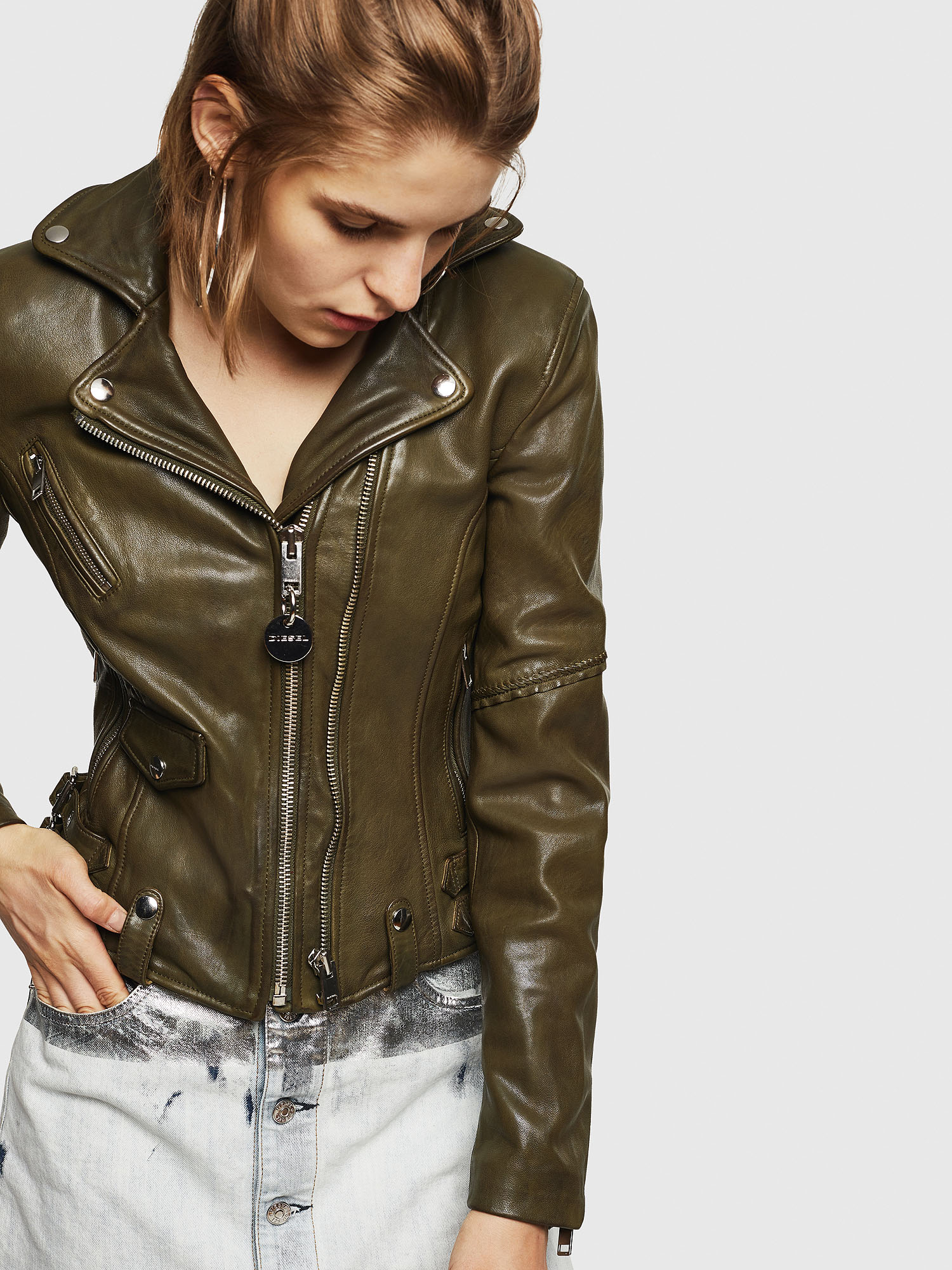 Diesel - L-SINYA-A,  - Leather jackets - Image 1